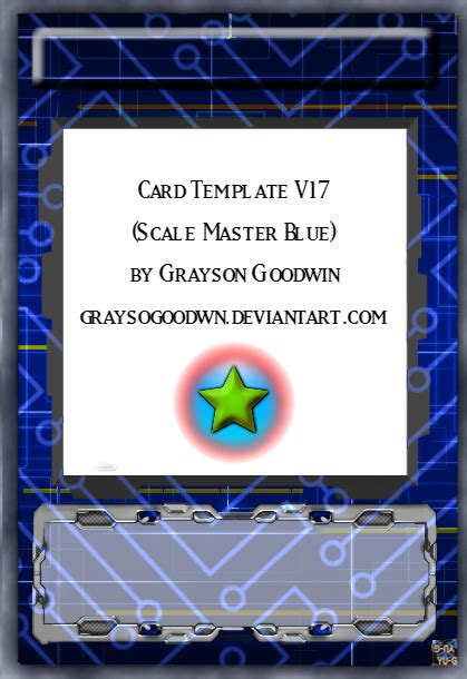 Yugioh Pendulum Card Template by Yu Gi Oh Card Template V16 Scale Master Blue By
