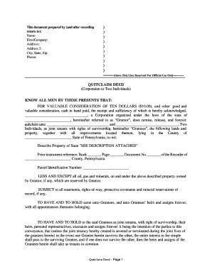 Bill Of Sale Form Iowa Quitclaim Deed Sle Templates Fillable Printable Sles For Pdf Pennsylvania Deed Template