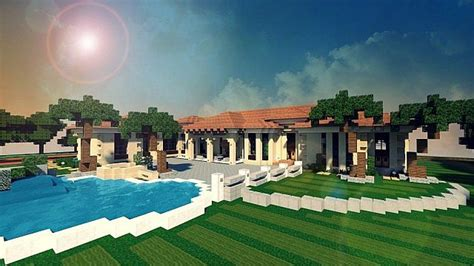 Patio Ideas Minecraft Mediterranean Estate Minecraft House Design