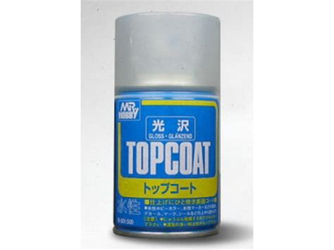 Mr Hobby Topcoat Gloss B501 Spray Top Coat Gloss mrh b501 mr top coat varnish gloss spray 86 ml