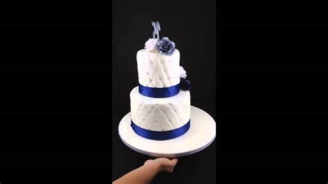 Navy Blue 25th Anniversary Cakes by Aneshly Cakes.   YouTube