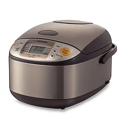 Rice Cooker Stainless Steel Sanken zojirushi 5 1 2 cup micom rice cooker and warmer in stainless steel bed bath beyond