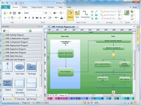 software to draw uml diagrams uml activity diagrams free exles and software