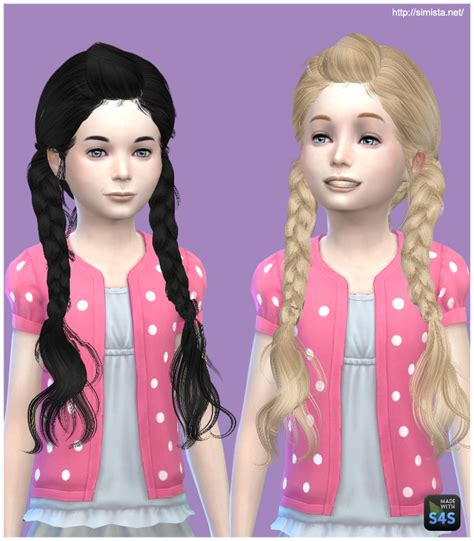 the sims 4 hair for female kids the sims resource sims 4 hairs simista may 03g hairstyle retextured