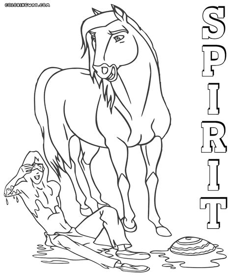 spirit horse coloring pages great spirit horse coloring