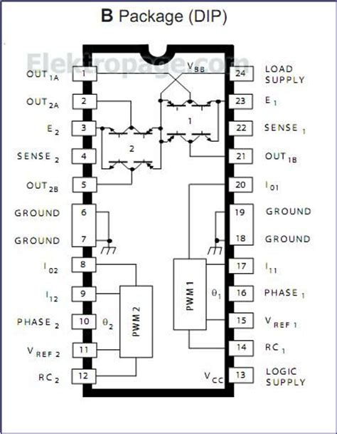 integrated circuits pin diagram udx2916 pinout connection diagram integrated circuits elektropage