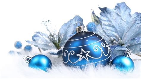 blue decorations on christmas wallpapers and images