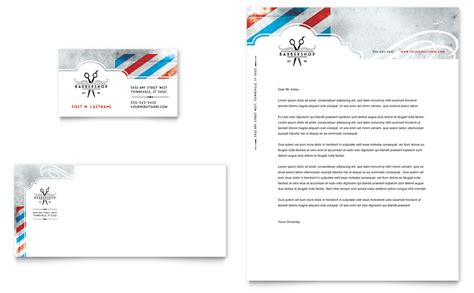 barbershop business card letterhead template word
