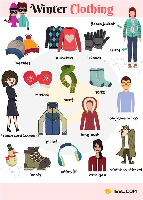 winter clothes and accessories vocabulary in 7esl