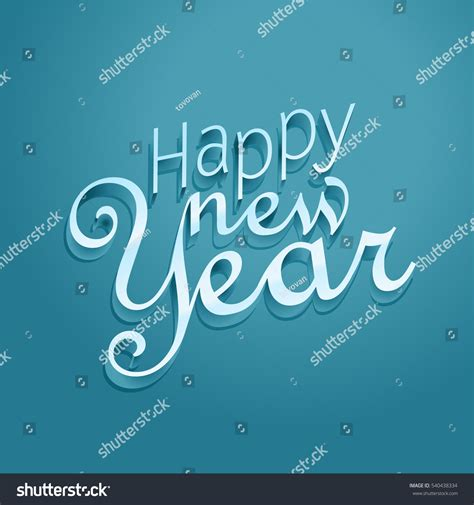 happy new year lettering greeting happy new year greeting card vector template happy new