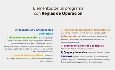 reglas de operacion para el programa prospera 2016 191 c 243 mo se rigen los programas presupuestarios ciep