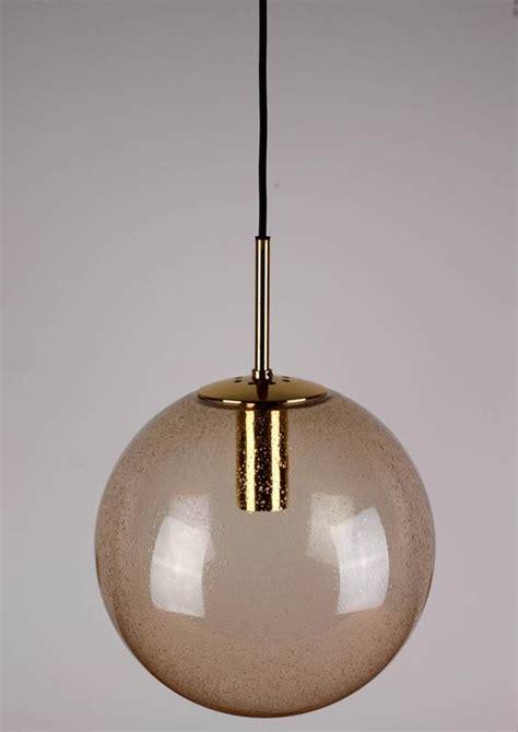 smoked glass pendant light five 1970s spherical smoked glass globe pendant lights by