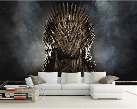 iron wall mural aliexpress buy of thrones wallpaper iron throne wall murals custom photo wallpaper