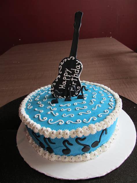 cake designs  steph guitar birthday cake