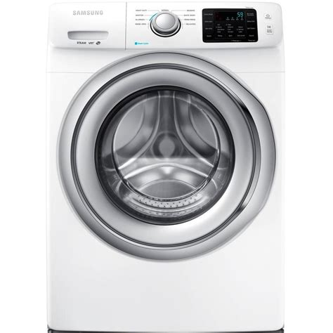samsung 4 2 cu ft front load washer with steam in white energy wf42h5200aw the home depot