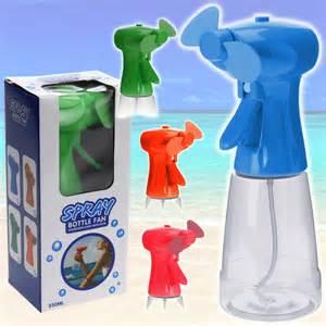 water bottle spray fan hand held spray water bottle fan sports air mist