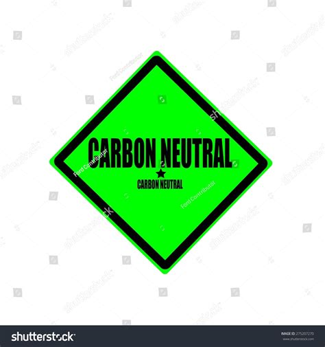Green Box From Carbon Neutral by Carbon Neutral Black St Text On Stock Illustration
