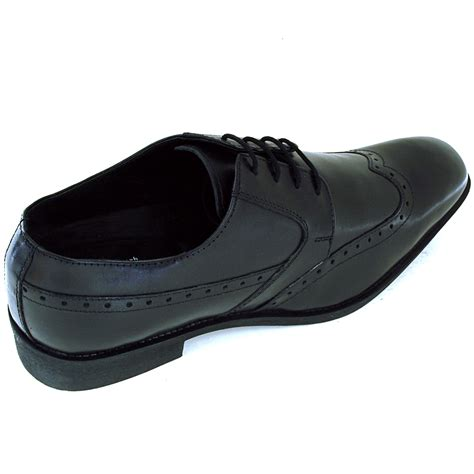 comfort mens shoes mens wing tip oxfords lace up leather comfort brogue
