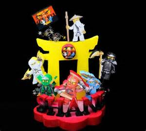 ninjago cake toppers personalized birthday cake topper centerpieces by adianez cake artist artfire
