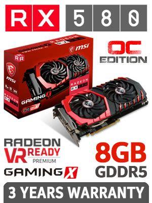 Vga Card Msi Radeon Rx 570 Gaming X 4g msi rx 580 8gb gaming x free shipping south africa