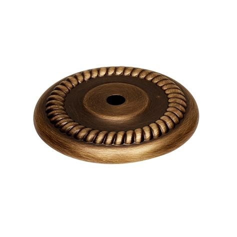 brass cabinet knob backplate alno creations shop a813 38p ae knob backplate