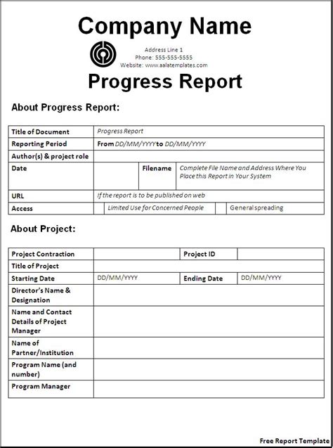 Report Document Template Free Report Template Word Excel Pdf