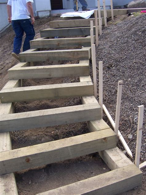 Timber Stairs Design The 2 Minute Gardener Photo Landscape Timber Stairs