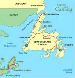 map newfoundland canada