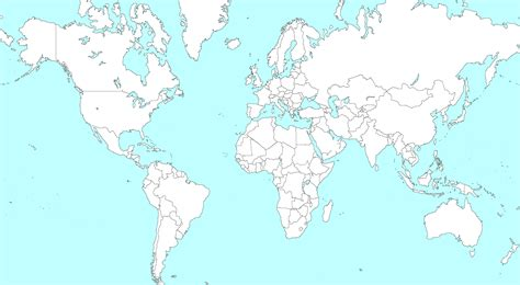 world map template for world map outline with countries