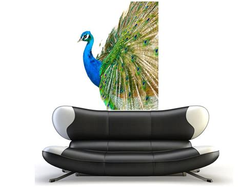 peacock feather wall sticker wall decal peacock bird feathers vinyl sticker room decor beautiful home