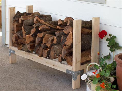 build firewood cutting rack 20 excellent diy outdoor firewood storage ideas home