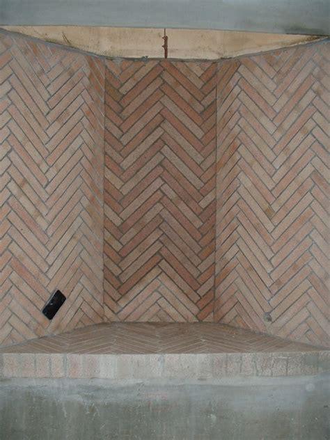 Herringbone Brick Fireplace by Fireplaces Walton Sons Masonry Inc 30 Years