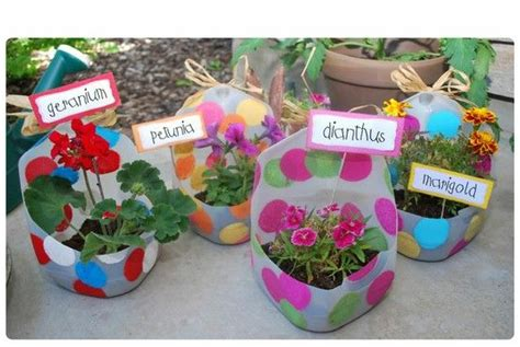 Milk Jug Planters by Milk Jug Flower Pots Made By County Partnership