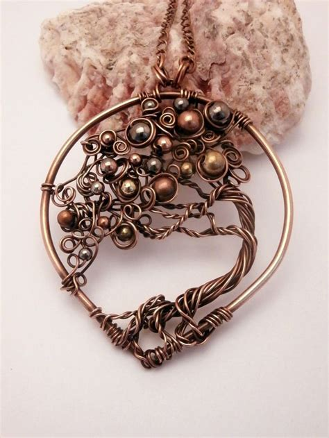 how to make a wire jewelry tree wire wrapped bonsai tree of pendant necklace mix