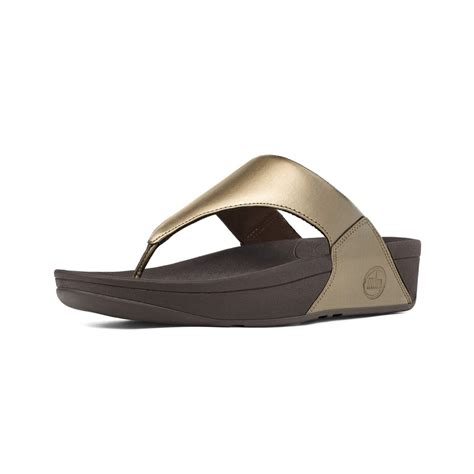 lulus sandals fitflop fitflop lulu toe post sandal in soft bronze