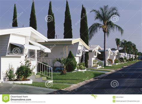 mobile home park stock images image 23147654