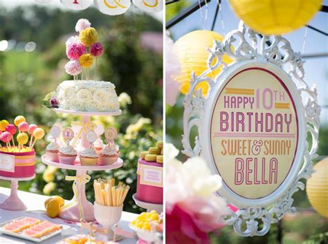 themes for a girl s 10th birthday party kara s party ideas sweet and sunny lemonade 10th birthday