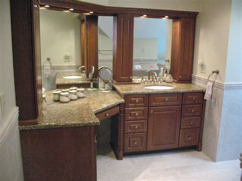 bathroom cabinets with makeup vanity bathroom vanity cabinets with makeup accent tile runs at