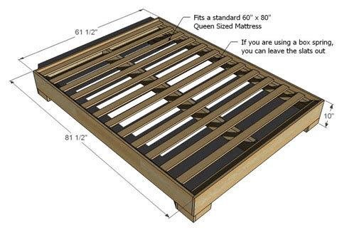 wooden bed frame plans ana white much more than a chunky leg bed frame diy