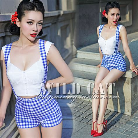 Breasted Dress Blue White M L 18298 1 free shipping cat limited pin up sweet all match blue