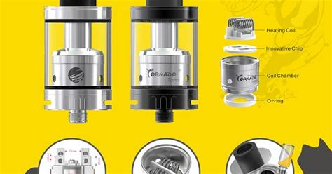 Replacement Glass For Ijoy Tornado 150 Rba Rda Vapor Tank Rdta Mod 1 ijoy tornado nano features with innovative chip coil tornados and chips