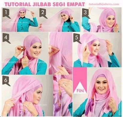 tutorial hijab segi empat untuk idul fitri tutorial hijab satin dan sifon untuk hari raya idul fitri