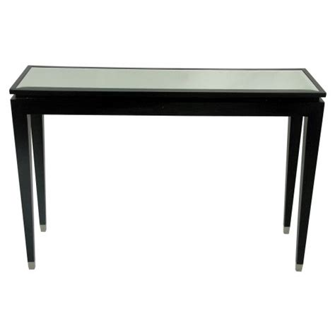 glass top console table black glass top console table