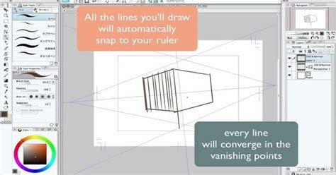 paint tool sai rulers clip studio paint perspective tool tutorial