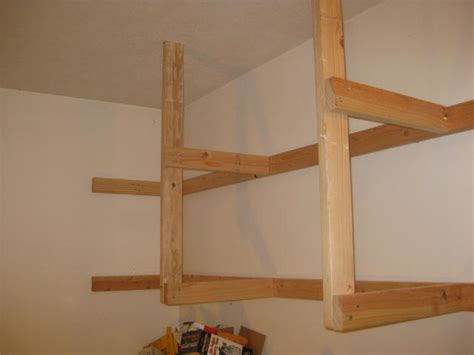 How To Build A Hanging Shelf In Garage by Diy Building Shelves Garage Woodworking Plans