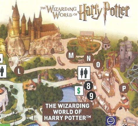 harry potter adventure map universal islands of adventure map harry potter theme