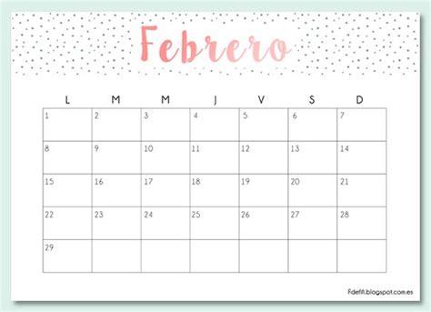 m 225 s de 25 ideas fant 225 sticas sobre calendario febrero 2017