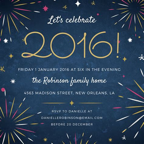 canva new years eve fireworks new year s eve party invitation templates by canva