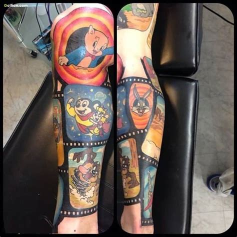 cartoon tattoo on leg 40 best animated leg tattoos designs realistic 3d