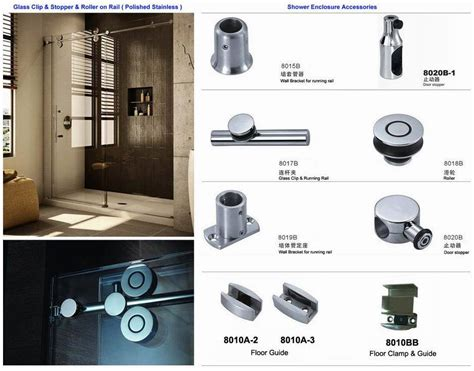 Shower Door Fittings China Stainless Steel Shower Door 8018b China Shower Door Roller Shower Enclosure Roller